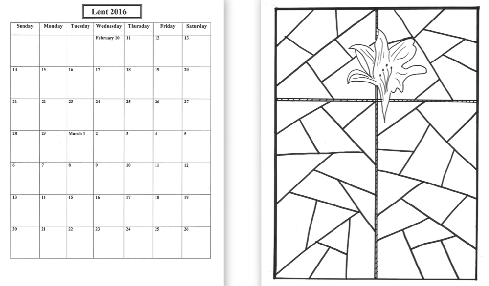Lenten Calendar Templates 2016 Praying In Color