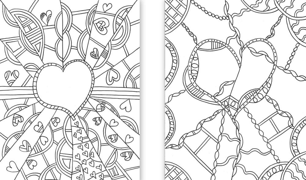 Heart Template Collage Cropped